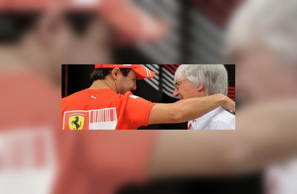 Felipe Massa ja Bernie Ecclestone