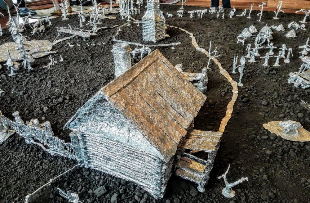 Seto laste käsitööna sündinud makett Haida külas, Siberis.