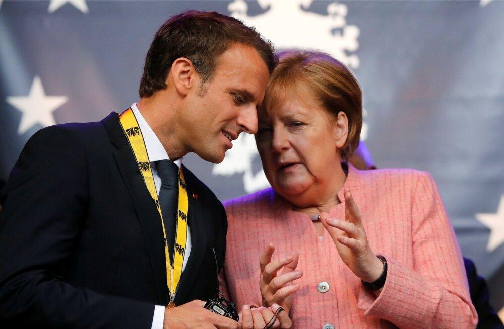 Kahe nädala pärast kohtuvad Merkel ja Macron Saksamaal, et valmistada ette ühine positsioon 28. juunil algavaks Euroopa ülemkoguks.