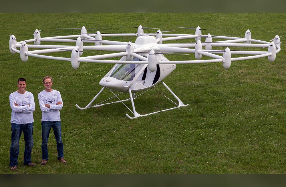 18 rootoriga Volocopter on lühikesteks sõitudeks parem vahend kui lendav auto