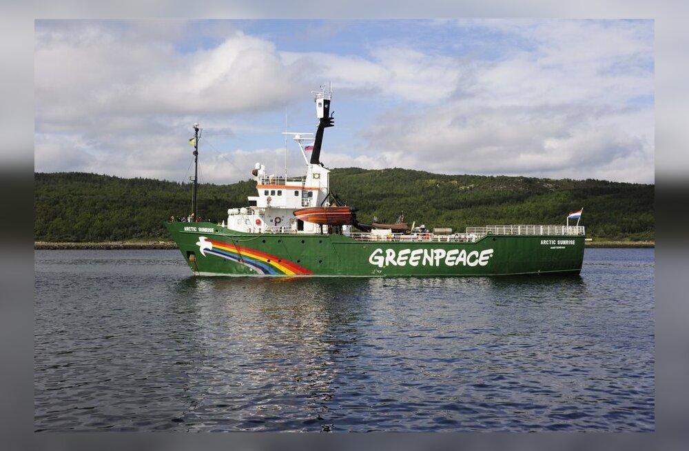 Venemaa alustas seoses Greenpeace'i protestiga piraatlusjuurdlust