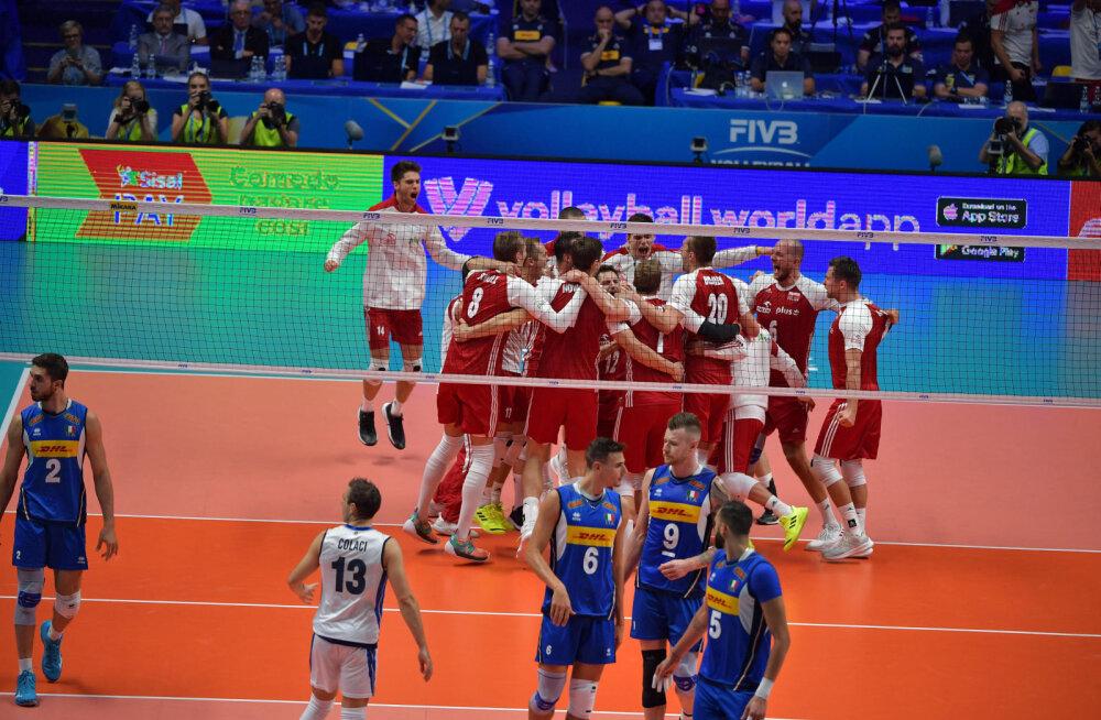 25 minutit ja võrkpalli MMil sai esineliku osas kõik klaariks: Poola ei jätnud Itaaliale võimalustki