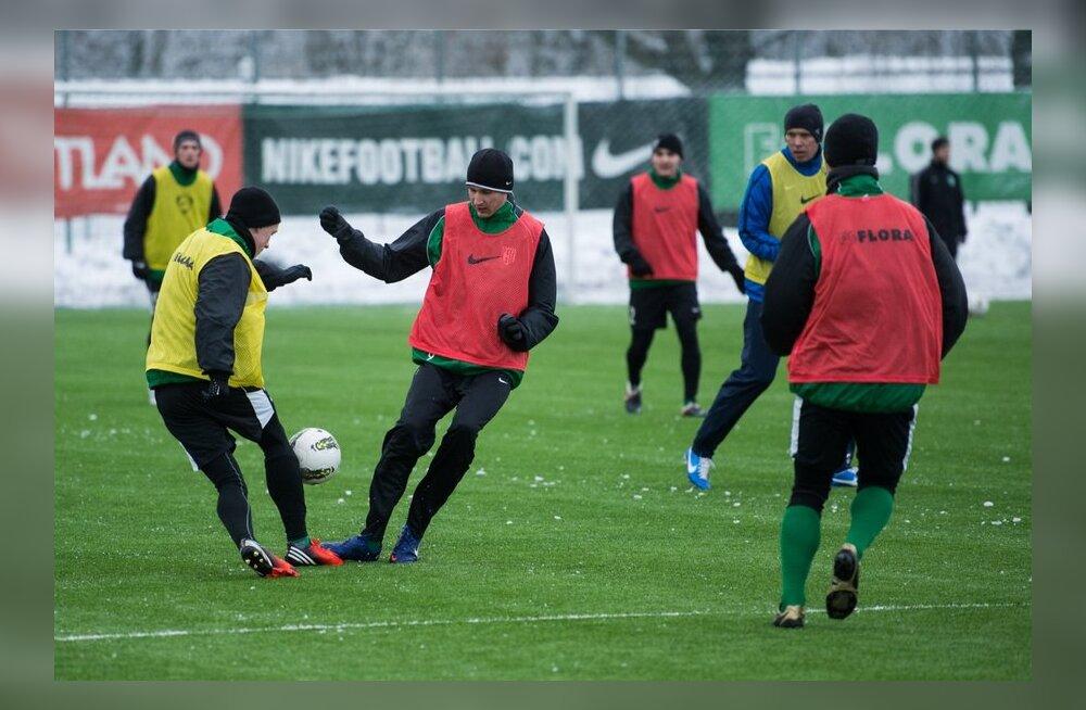 FC Flora treening, jalgpall