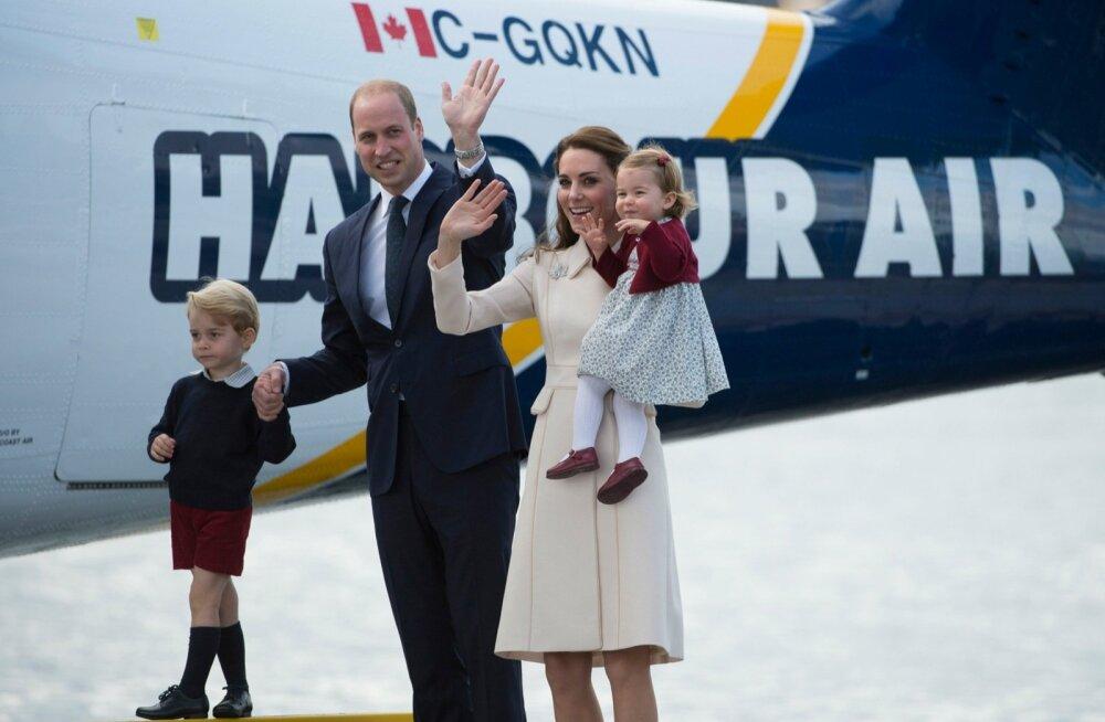 Kate ja William lahkuvad lastega Kandast