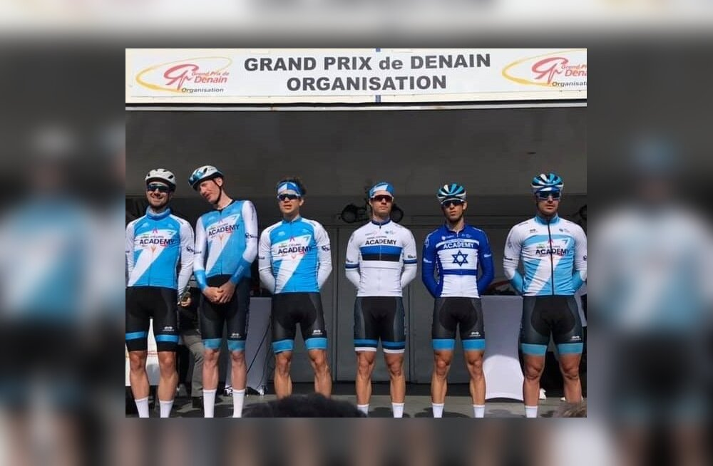 Mihkel Räim GP de Denain meeskondade tutvustamisel