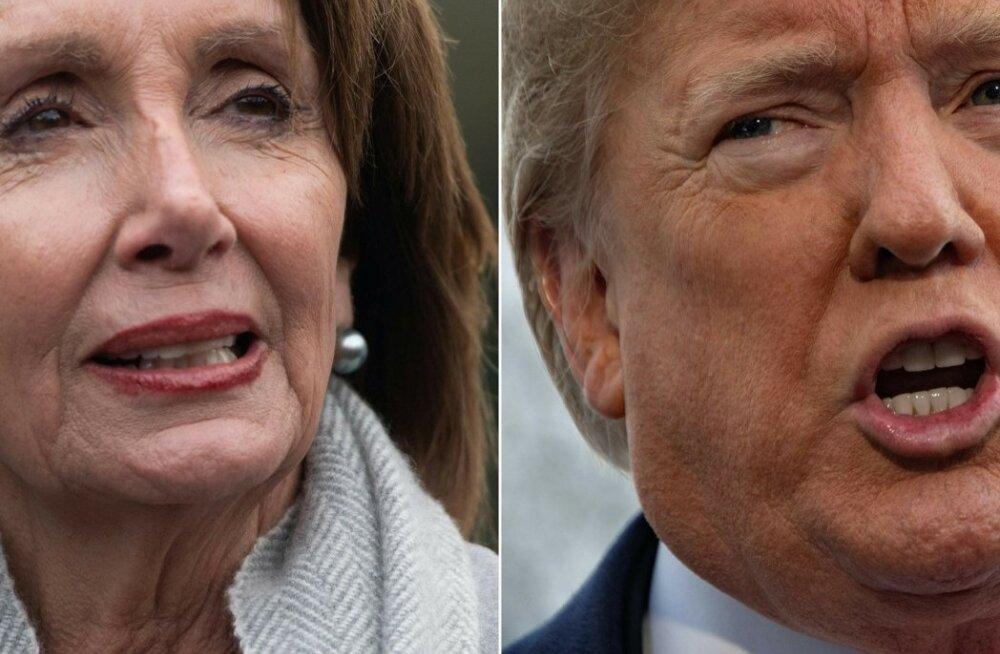 Trump lükkas edasi esindajatekoja spiikri Pelosi välisreisi, kui Pelosi oli lükanud edasi Trumpi kõne olukorrast riigis
