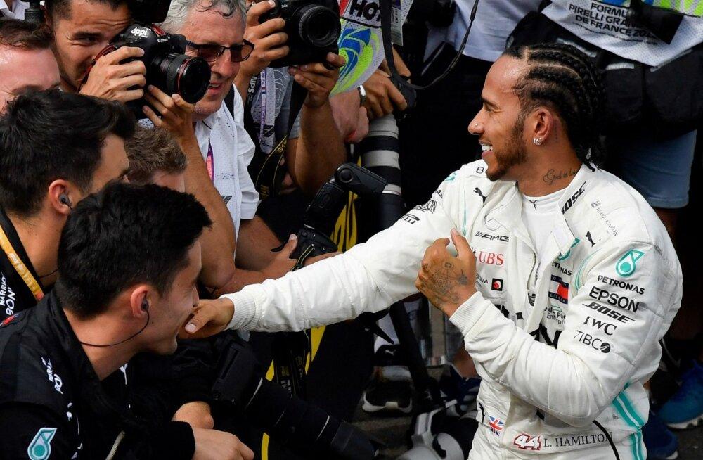 Lewis Hamilton eiras Prantsusmaa GP-l tiimi korraldust