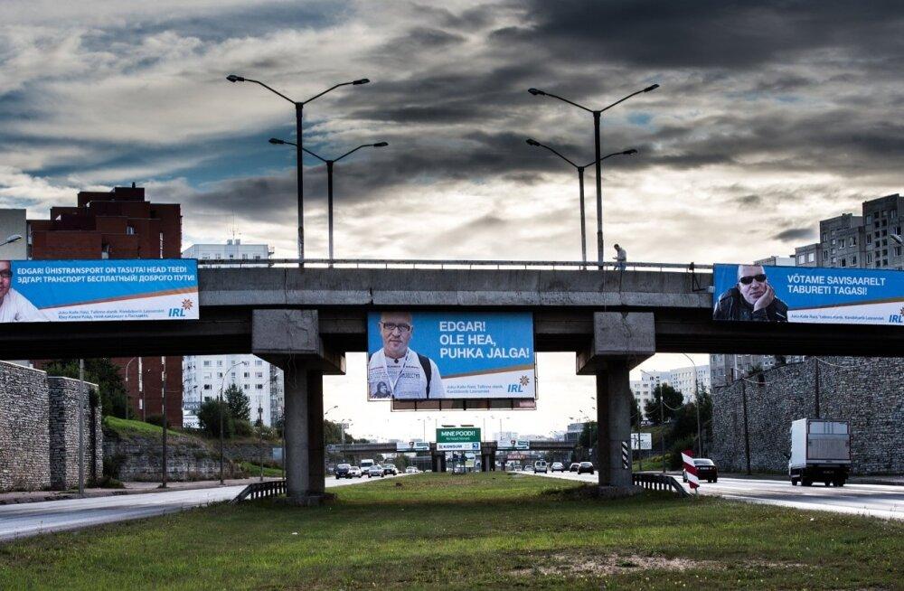 Valimisreklaamid Laagna teel