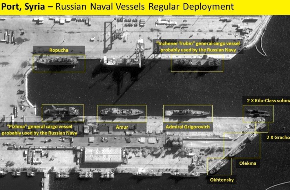 Satelliidifotode järgi väljusid Vene laevad Süüria sadamast merele