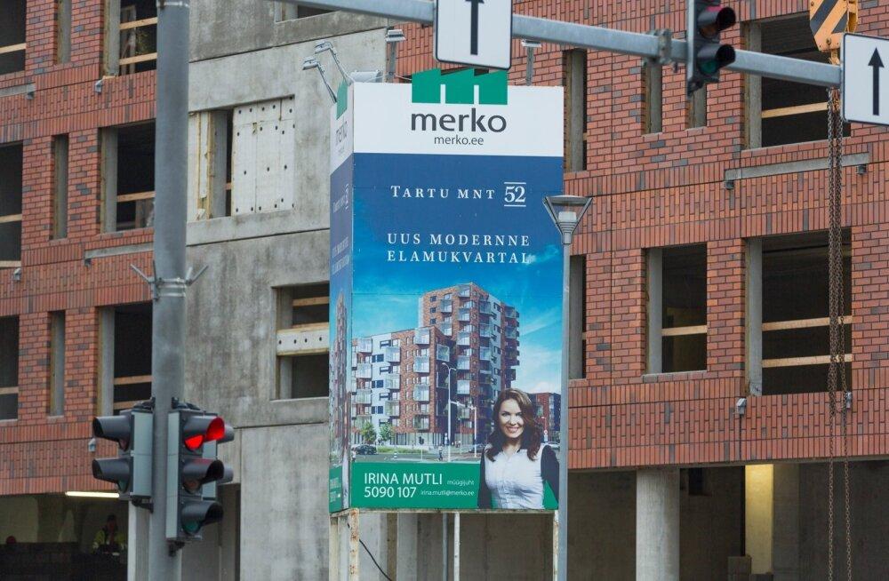 Merko Ehitusel on Tallinna kesklinnas käsil Tartu mnt 52 korteriarendus-projekt.