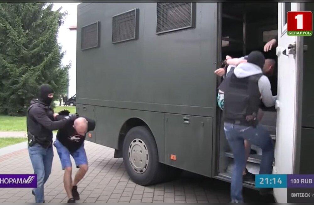 Valgevenes vahistatud Vene palgasõdureid kahtlustatakse terroriaktide ettevalmistamises