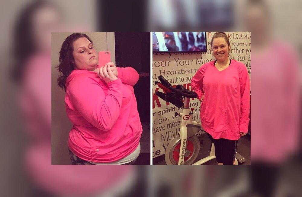 Imeline muutumine: need kolm asja aitasid ühel naisel kaotada 45 kilo