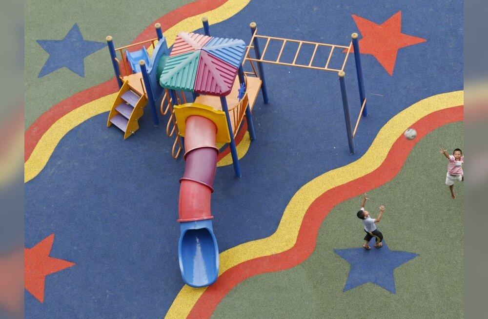 Uuesalus valmis laste mänguväljak