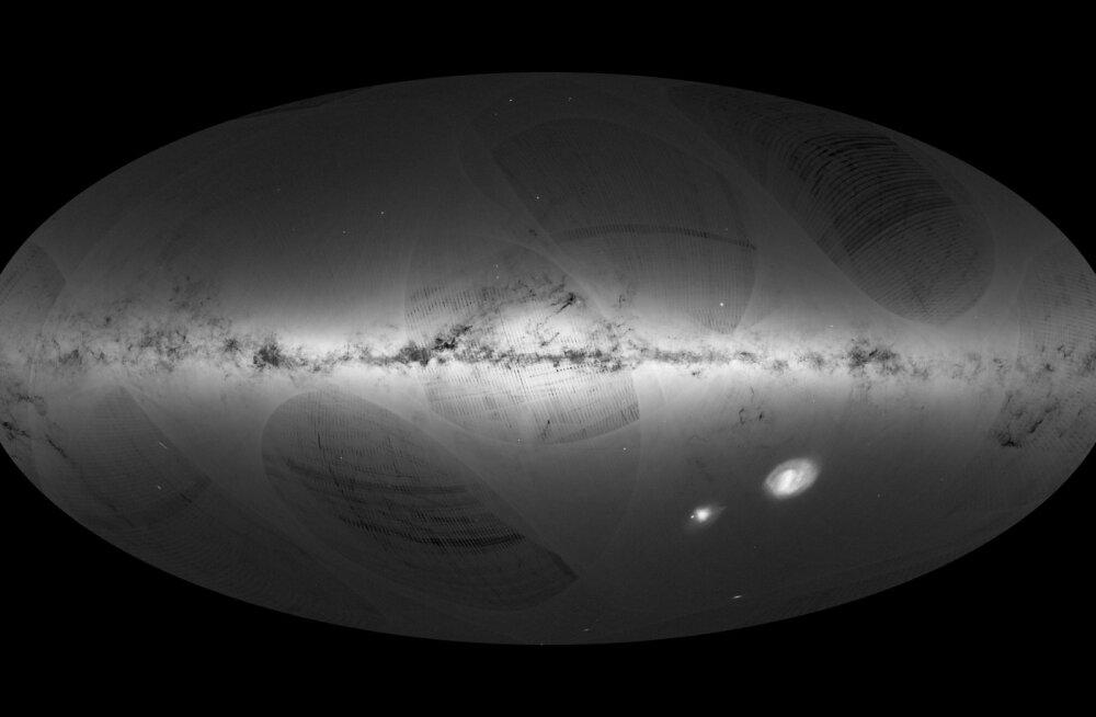 Euroopa kosmoseagentuuri satelliit klõpsas Linnuteest foto, millel on üle miljardi tähe