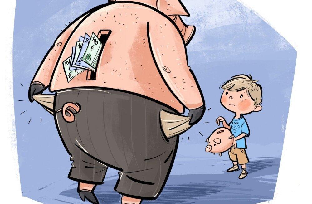 Скрытая сторона расставания: 13 000 эстонских детей ждут от своих родителей-должников алименты. Общий долг достиг 33 млн евро