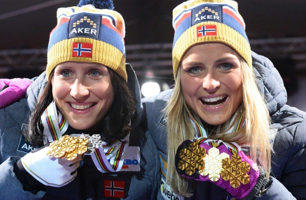Suusasporti naasnud Björgen sai treeningul hirmutava kogemuse: Therese Johaug pani mind kohe paika