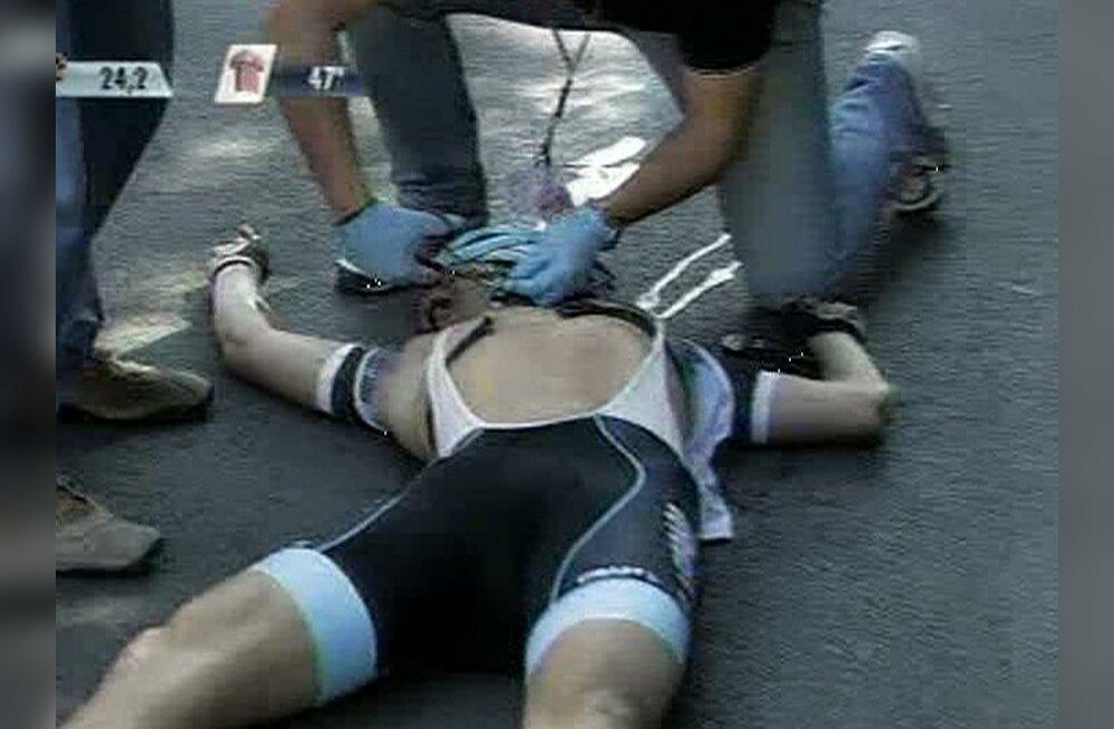 KOHUTAV KUKKUMINE: Belgia rattur hukkus Itaalia velotuuril
