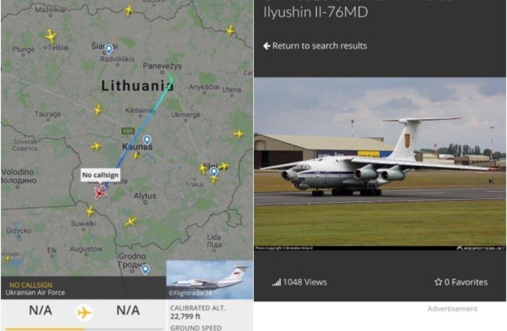 Появился из ниоткуда. Жителей Паневежиса переполошил украинский военный самолет