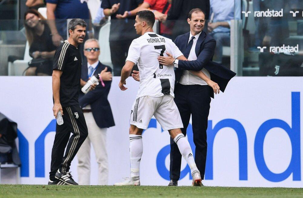 Cristiano Ronaldo ja Massimiliano Allegri
