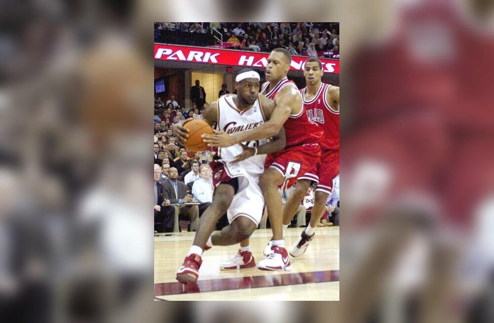 LeBron James kohtumises Bullsiga