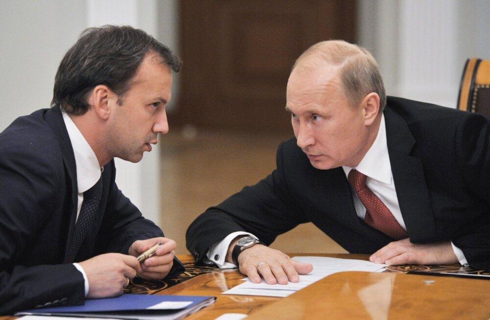 Arkadi Dvorkovich ja Vladimir Putin
