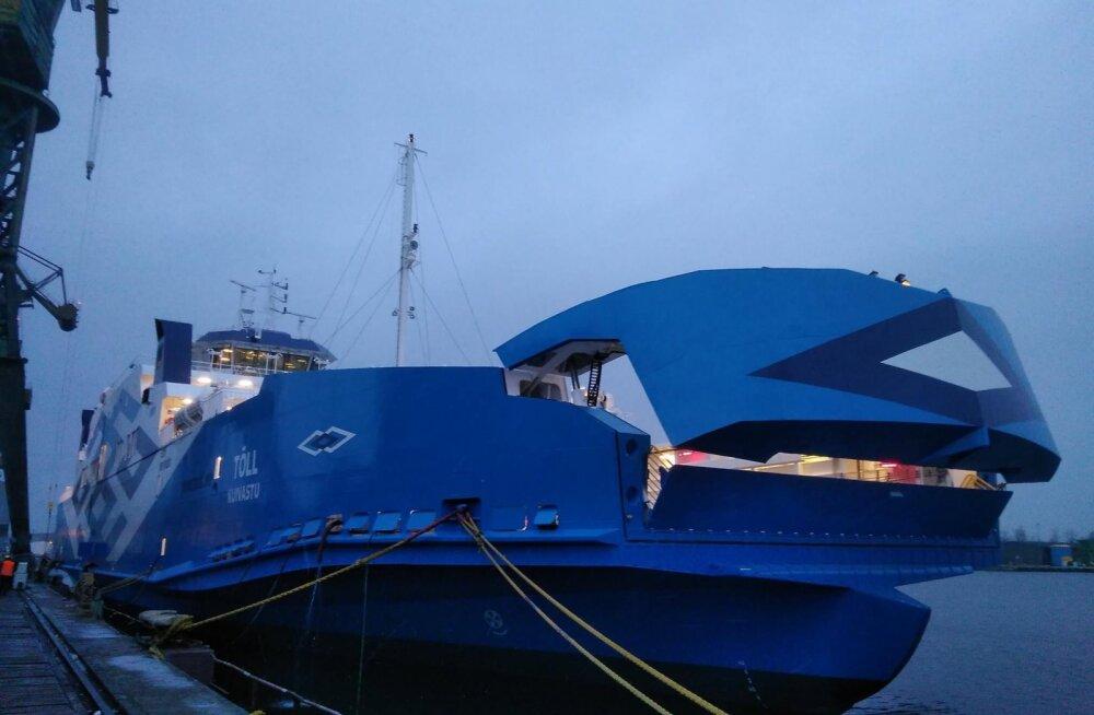 TS Laevad võtsid Tõllu Poola laevaehitajatelt vastu; koduteed alustab parvlaev mõne päeva jooksul