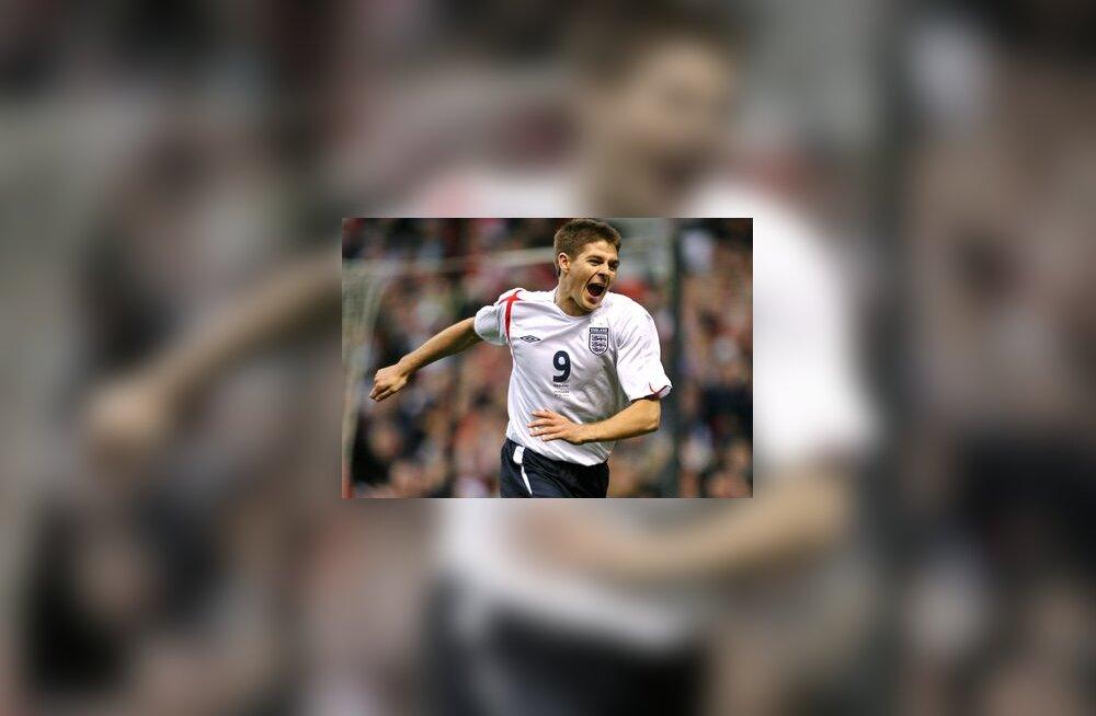 Inglismaa jalgpallikoondise mängija Steven Gerrard