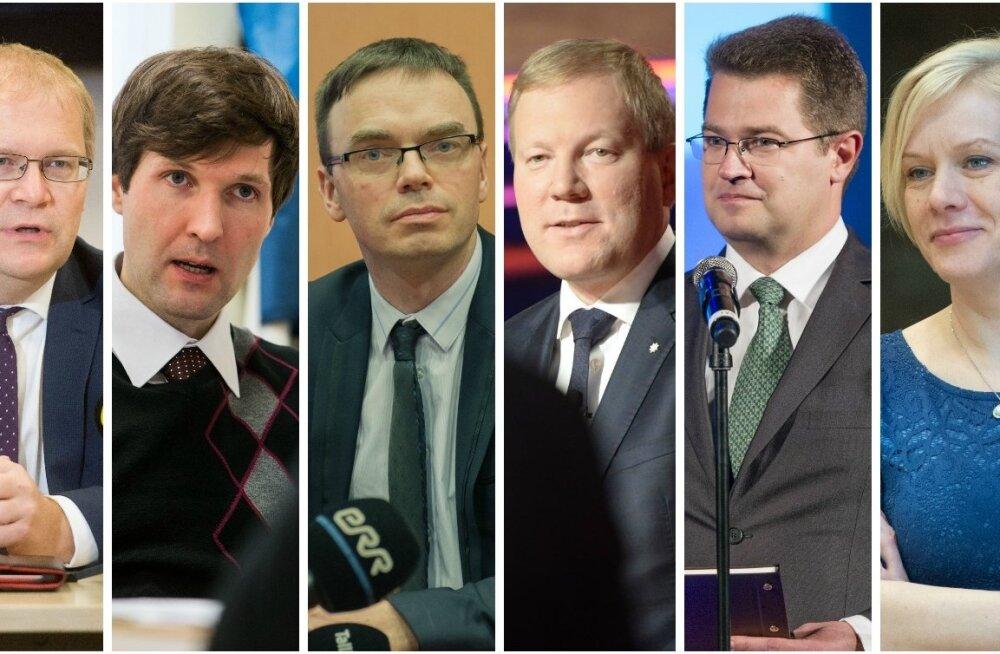 Urmas Paet, Martin Helme, Sven Mikser, Marko Mihkelson, Marko Šorin ja Monika Haukanõmm