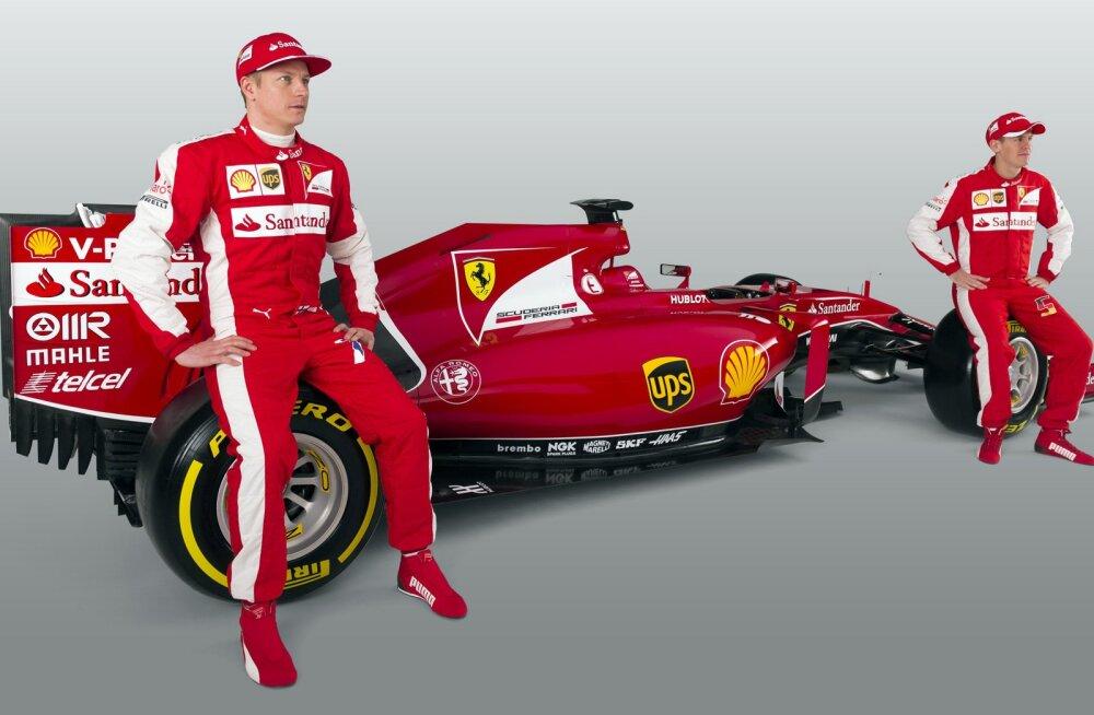 Ferrari uus masin, Räikkönen ja Vettel