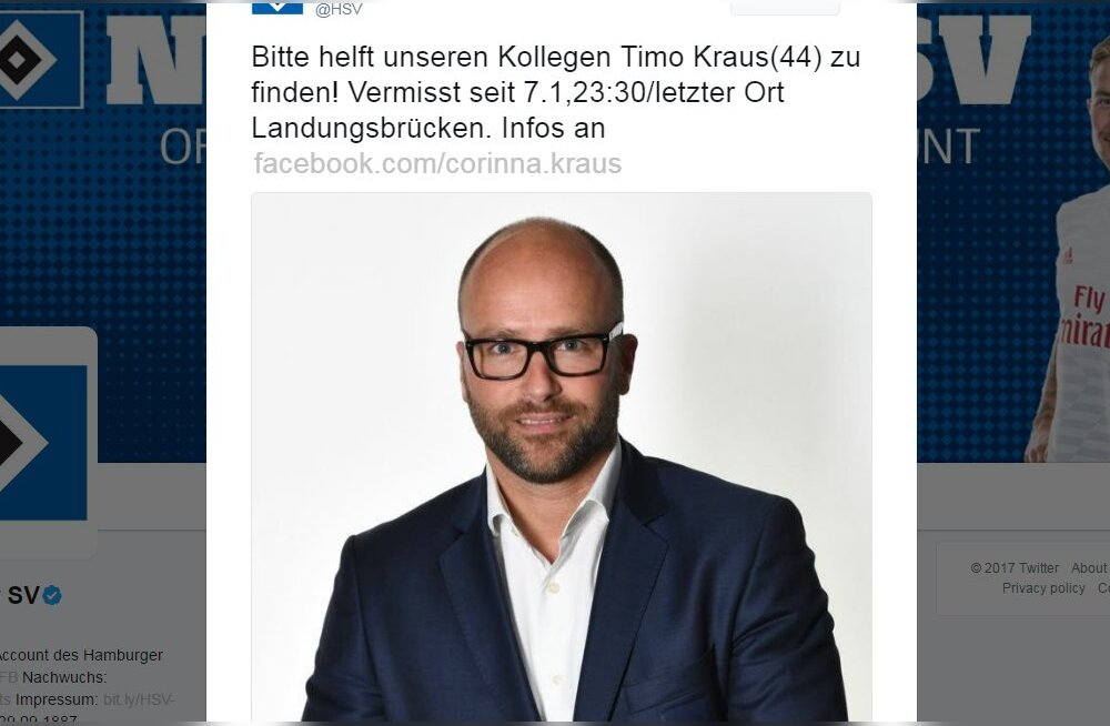 Jaanuaris kaduma läinud Bundesliga klubi ametnik leiti surnuna