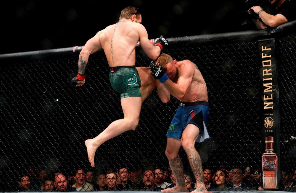 Conor McGregor (vasakul) ei halastanud Donald Cerronele.