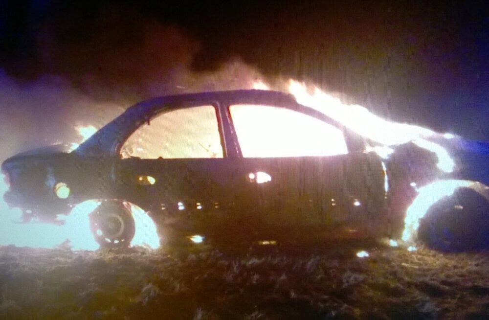 Sõiduauto Opeli põleng Jõgevamaal