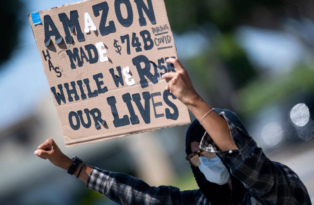 Aitab ärakasutamisest! Amazoni töötajad nõuavad koroonakriisi toel endile paremaid töötingimusi