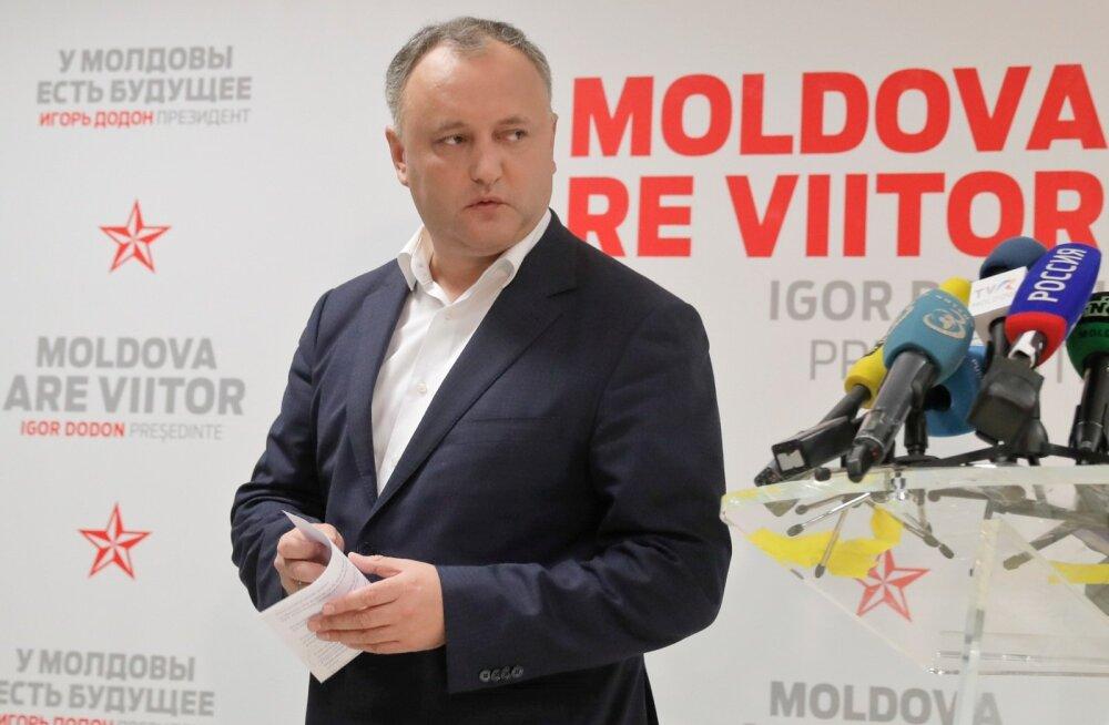 Moldova presidendivalimised võitis Kremli-meelne kandidaat Igor Dodon