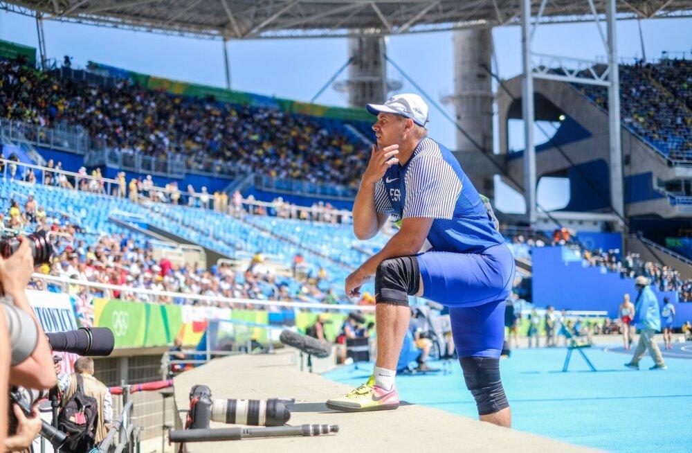 Gerd Kanter Rio olümpia meeste kettaheite finaalis