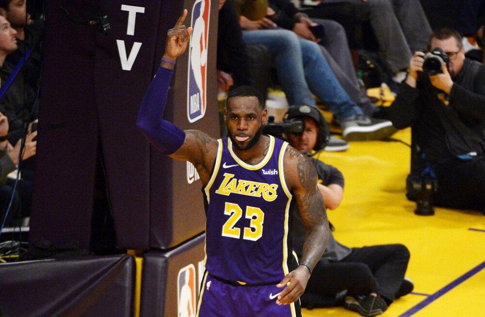 VIDEO | LeBron James möödus kõigi aegade tabelis Michael Jordanist, ent Lakers kaotas taas