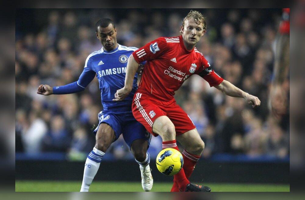 Dirk Kuyt esindab Liverpooli kuuendat hooaega, jalgpall