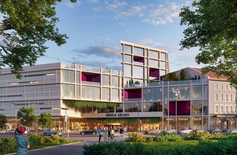 Rävala Galerii kaubandus- ja ärikvartali arhitektuurikonkursi finaali jõudnud tööd.