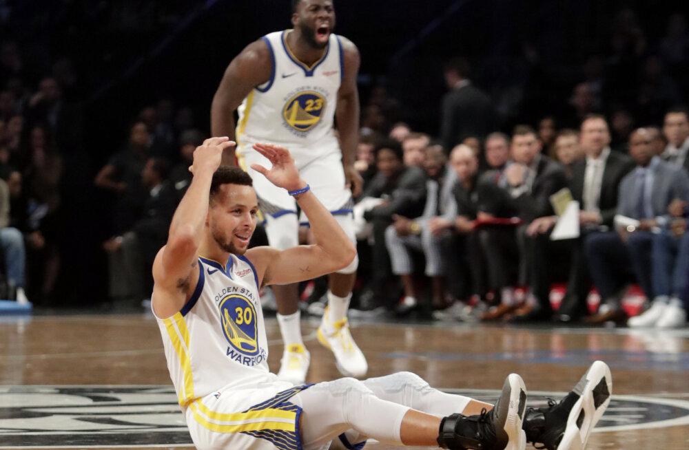 VIDEO | Curry ja Durant viskasid Brooklyni puruks, Thunder sai viimaks hooaja esimese võidu