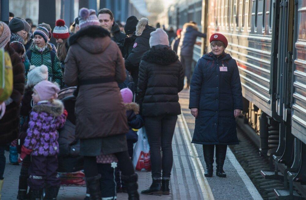Teisipäeval saabus Tallinna Balti jaama järjekordne rongitäis Moskva turiste.