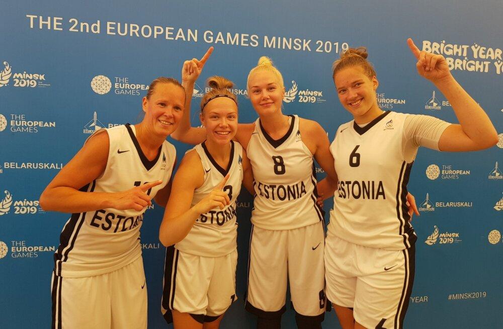 Eesti 3x3 korvpallinaiskond teenis Euroopa Mängudel alagrupist esimesena edasipääsu