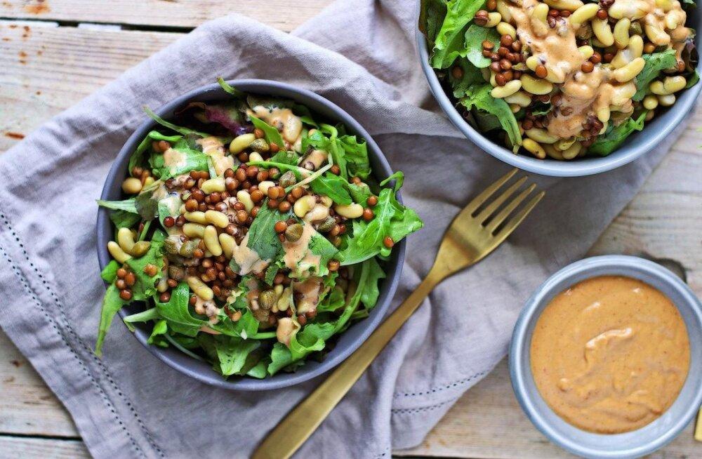 RETSEPT | Maitsev ja tervislik läätse-oa salat