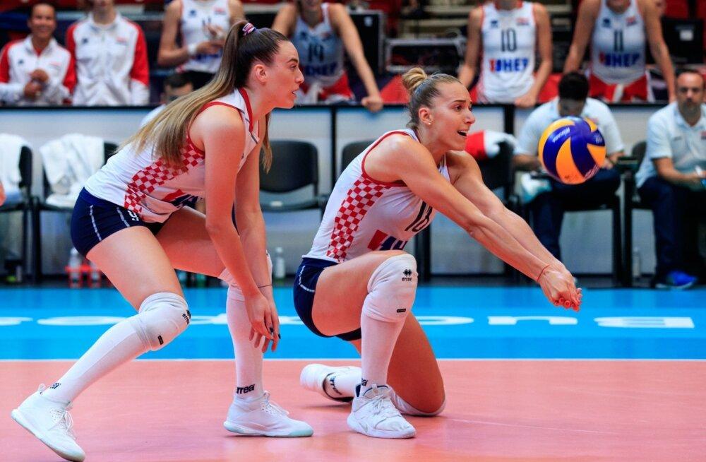 Võrkpalli EM-finaalturniir Eesti vs Horvaatia