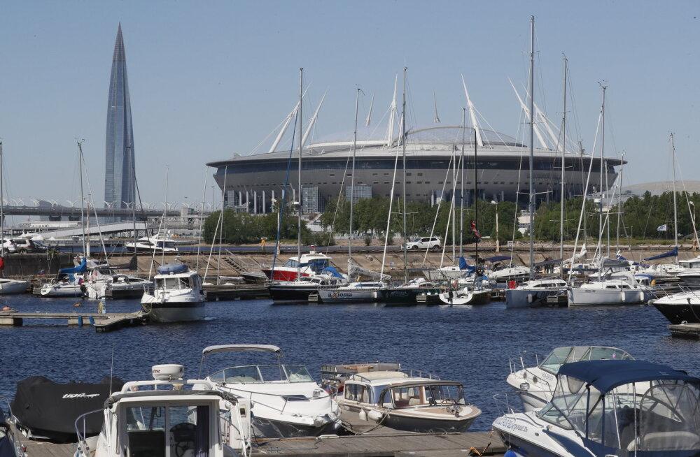 Üle 68 000 pealtvaataja mahutav Krestovski staadion Peterburis