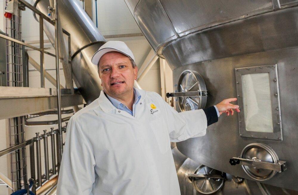 """""""Uue tehase äriplaan integreerib ka seniseid tootmisvõimsusi,"""" selgitab E-Piima juhataja Jaanus Murakas."""