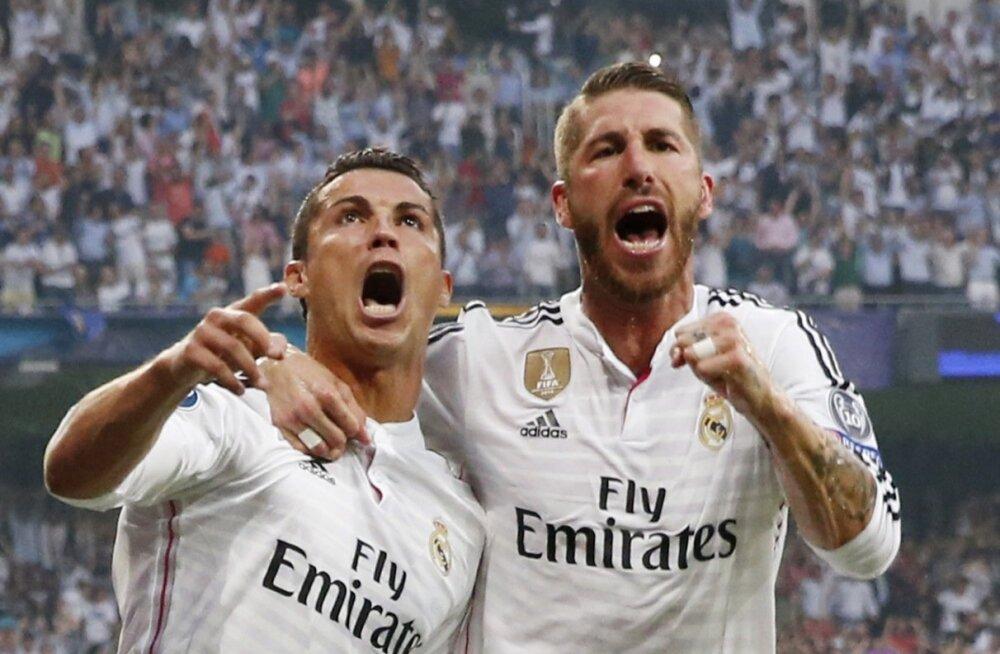 Cristiano Ronaldo (vasakul) ja Sergio Ramos.