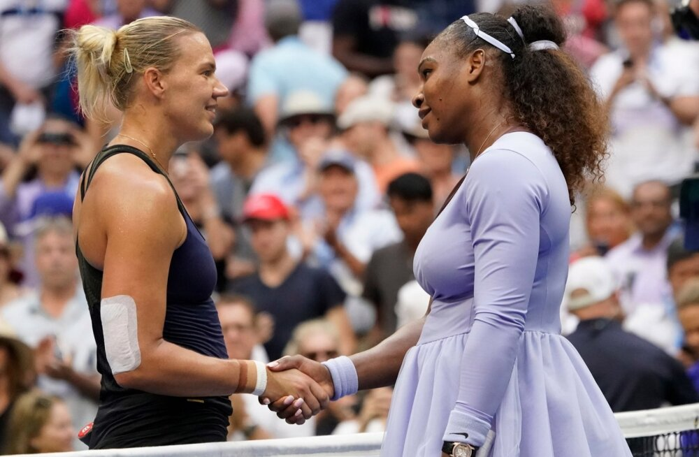 Kaia Kanepi (vasakul) teekonna US Openil lõpetas Serena Williams.