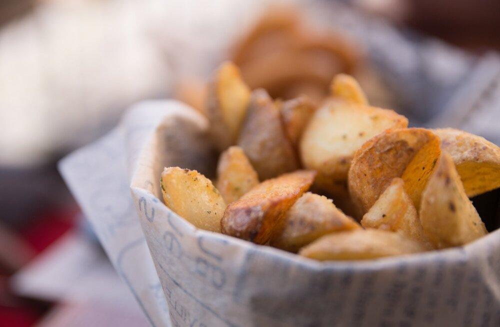 Рецепт: жареный картофель по-французски