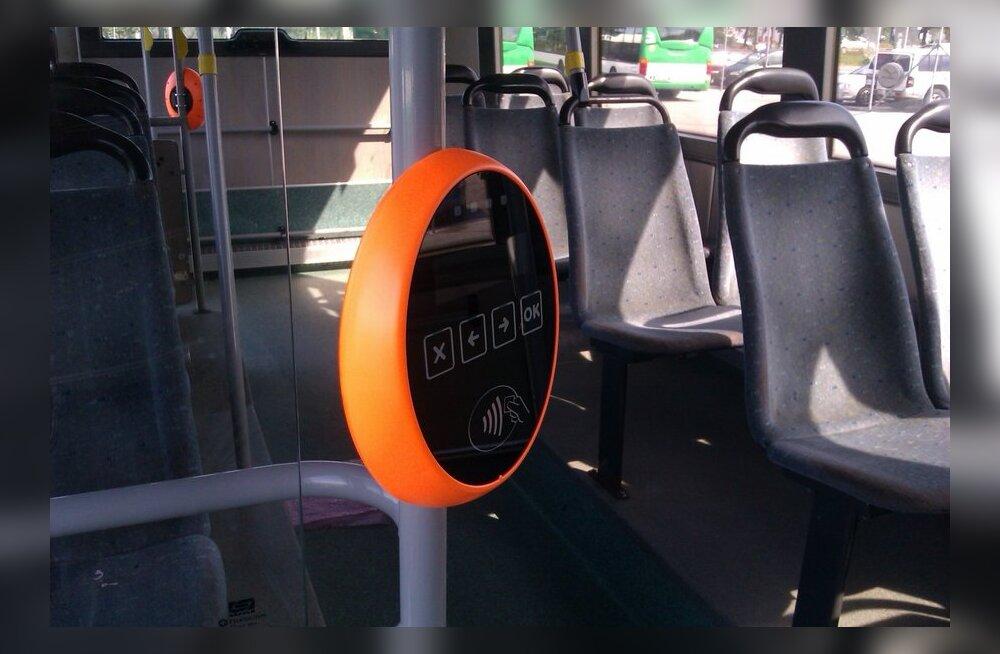 Paigaldatud validaator bussis