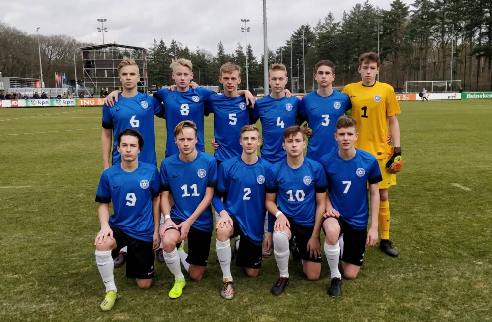 Eesti U17 vutikoondis alistas võõrsil Hollandi teise esinduse